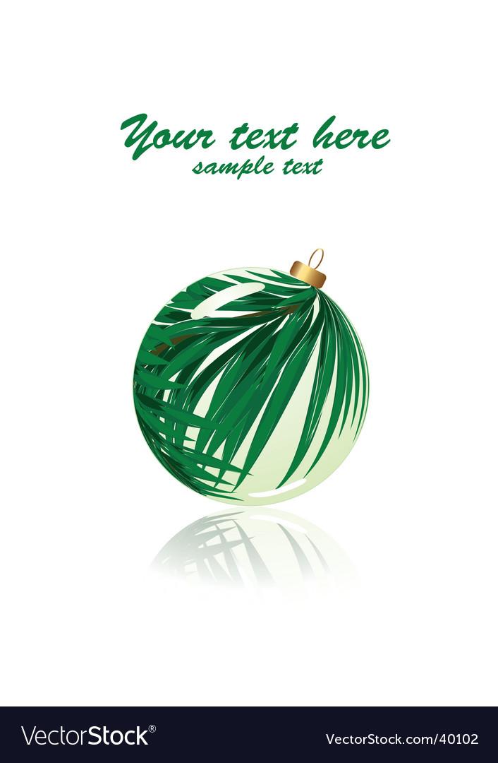 Green holiday vector image