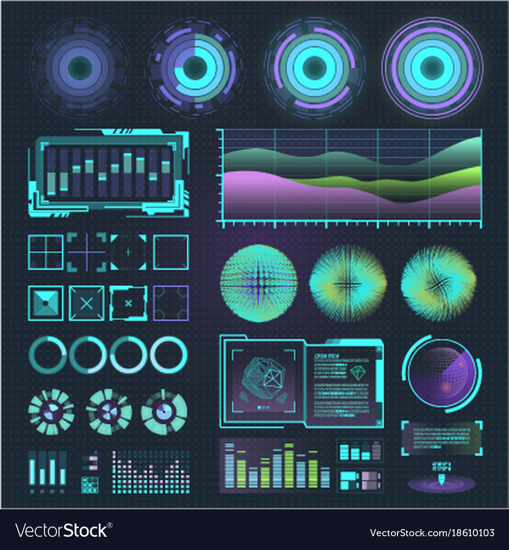 Futuristic interface space motion graphic vector image