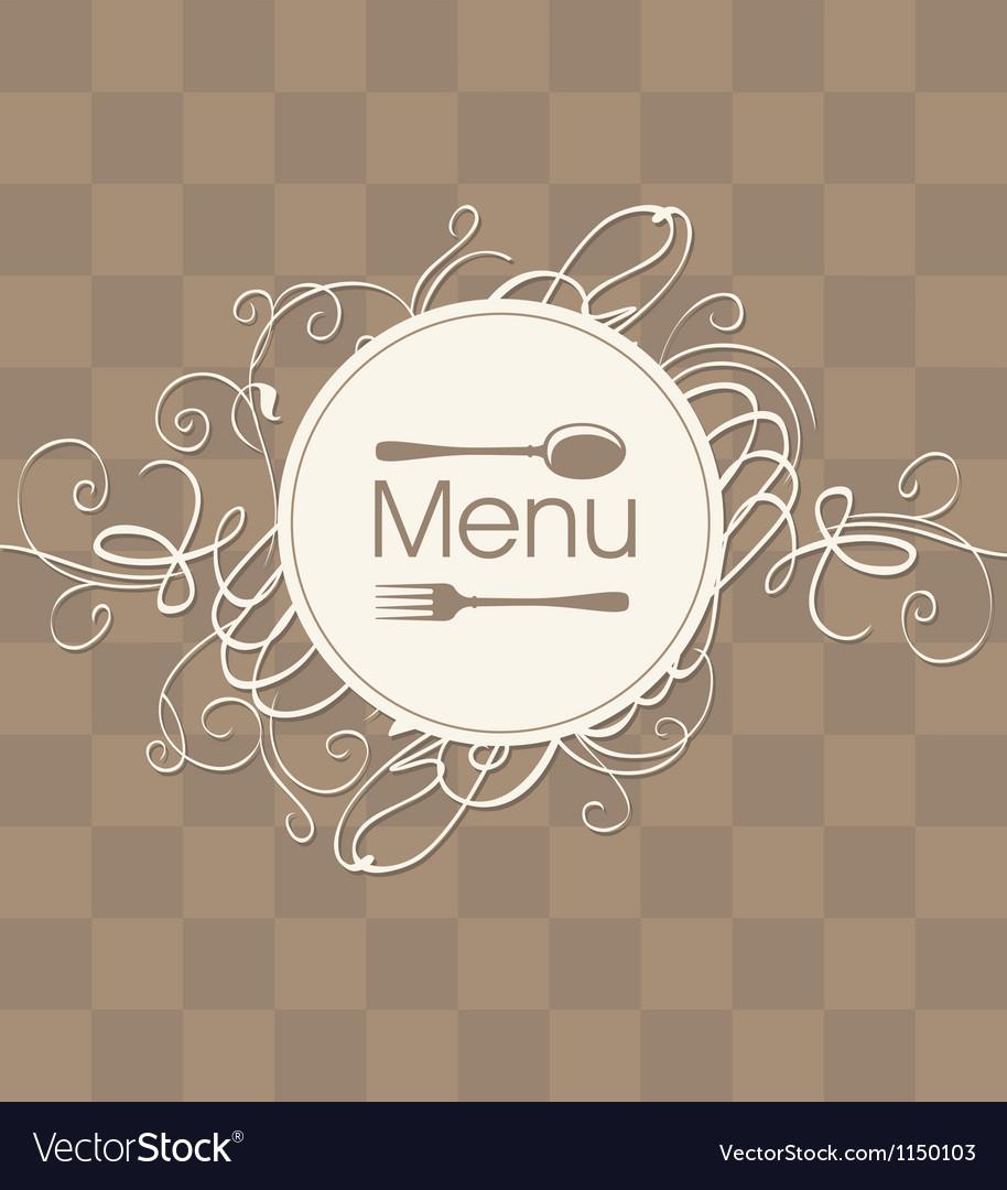 Menu with a flourish vector image