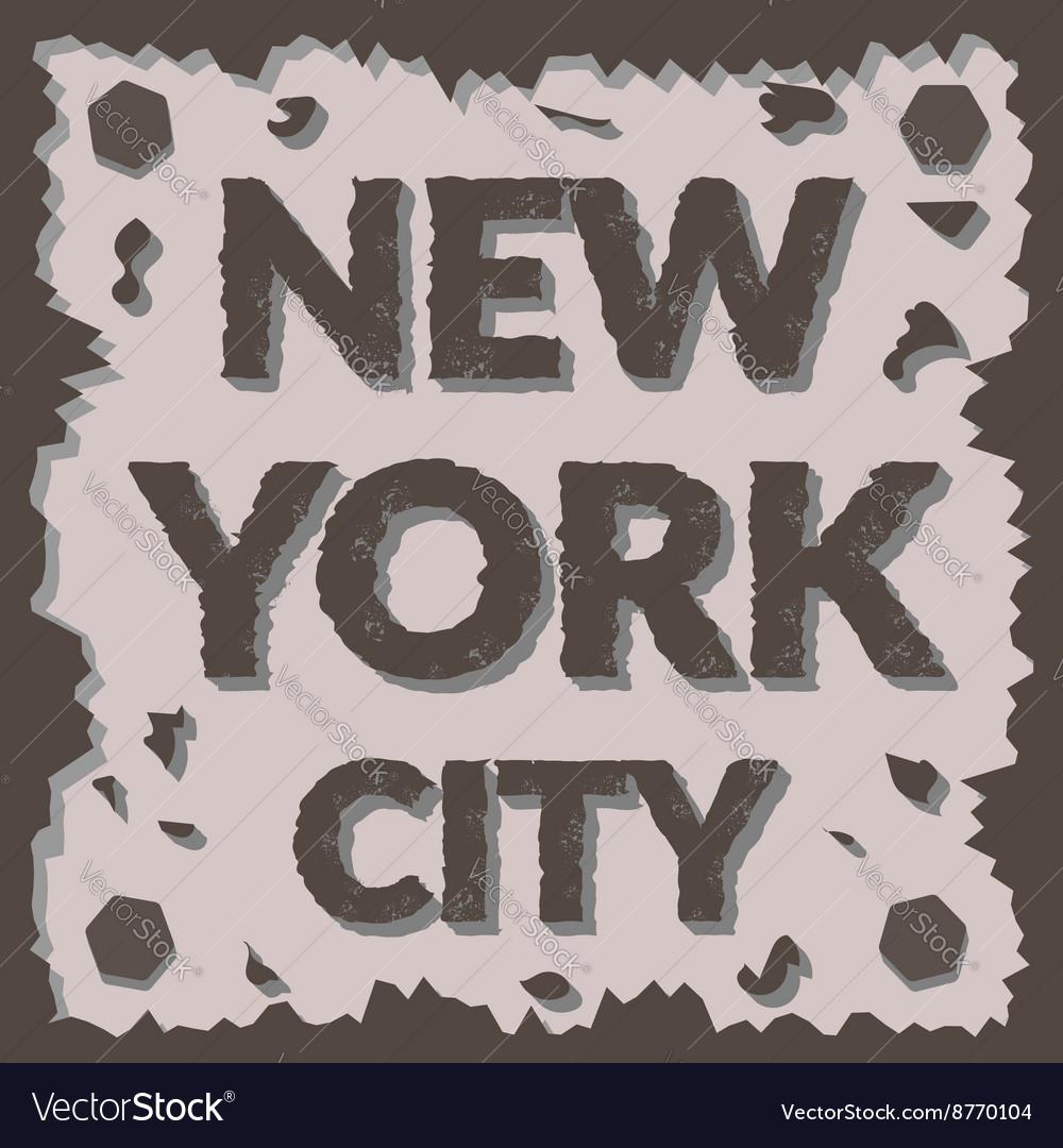 T shirt typography graphic New York city Grunge vector image