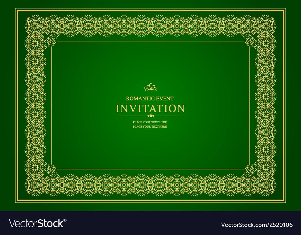 Al 0905 invitation 02 vector image