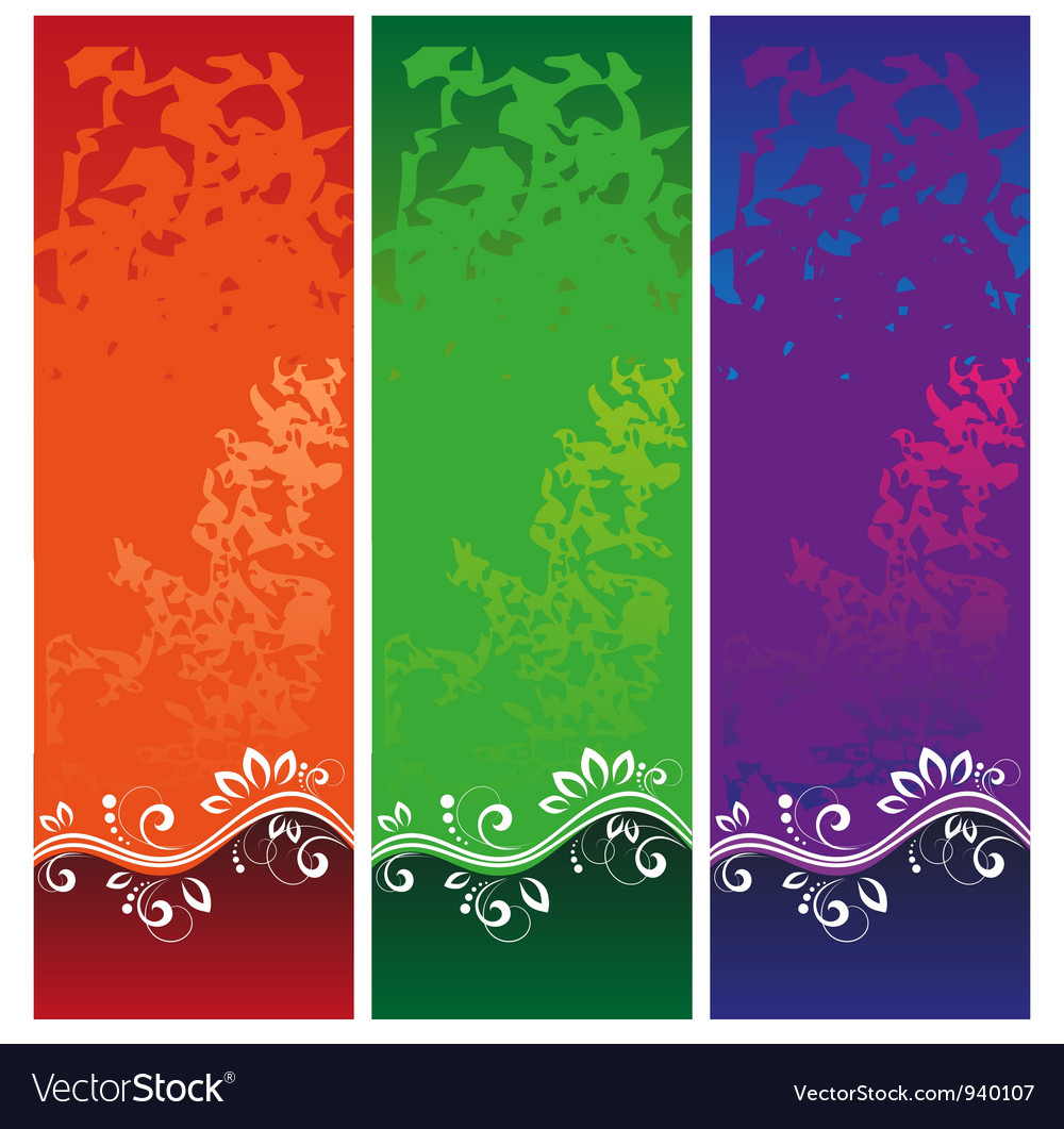 Color banners vector image