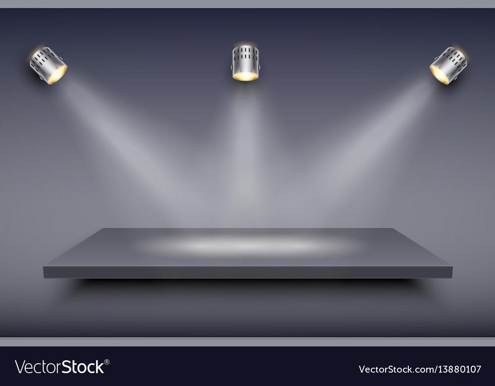 Black presentation platform vector image