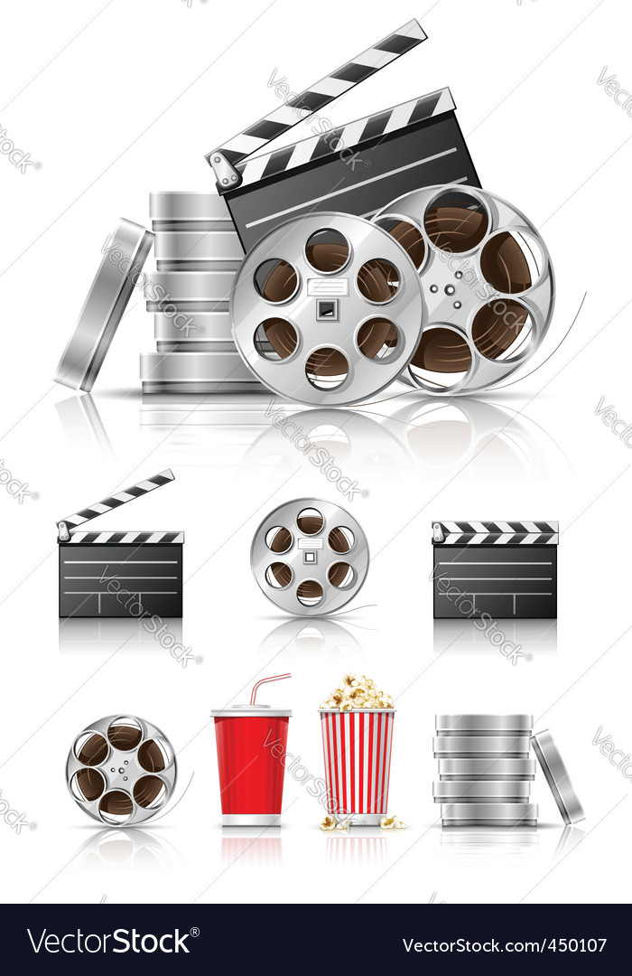 Film and movies vector image