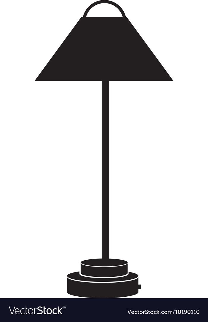 Floor lamp light interior icon vector image