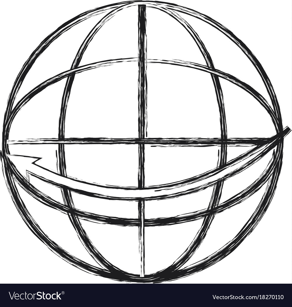 global sphere icon royalty free vector image vectorstock rh vectorstock com vector sphere intersection vector sphere logo