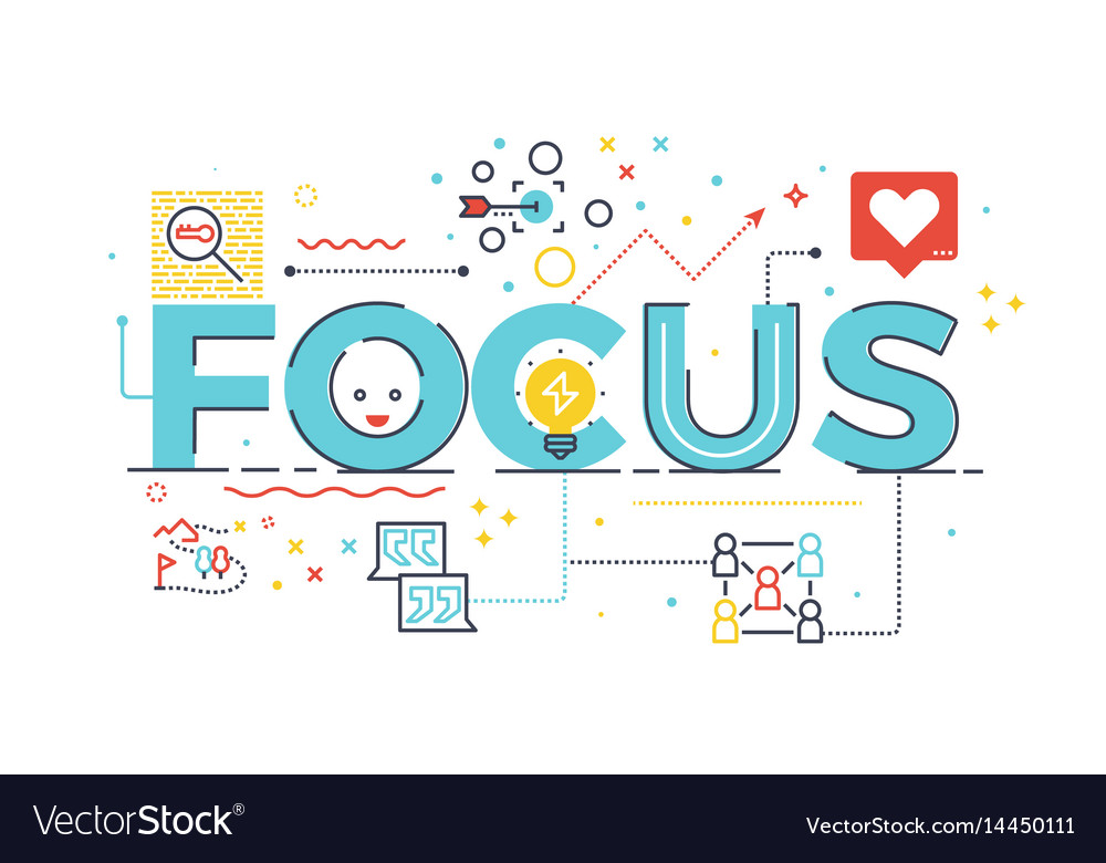 Focus word for business concept vector image