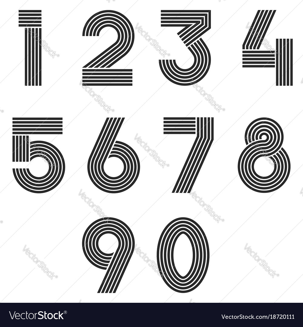 Numbers set thin line monogram math symbols vector image numbers set thin line monogram math symbols vector image buycottarizona