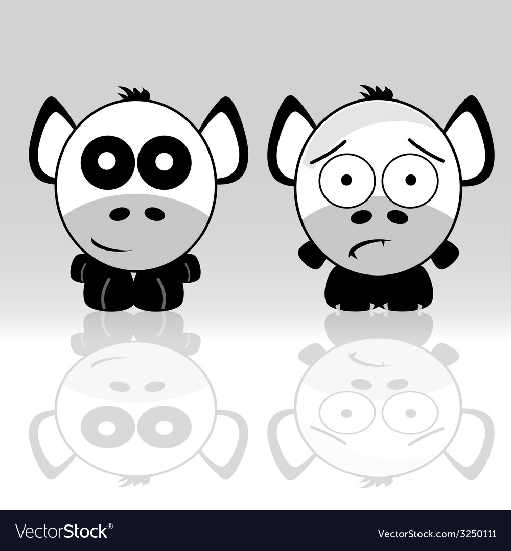 Sweet and cute animal icon vector image
