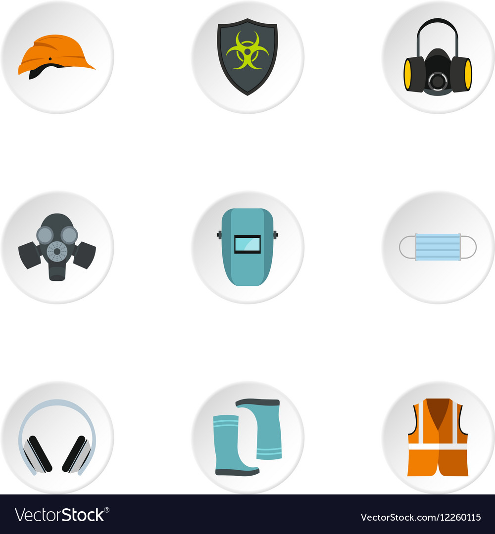 Construction ground icons set flat style vector image