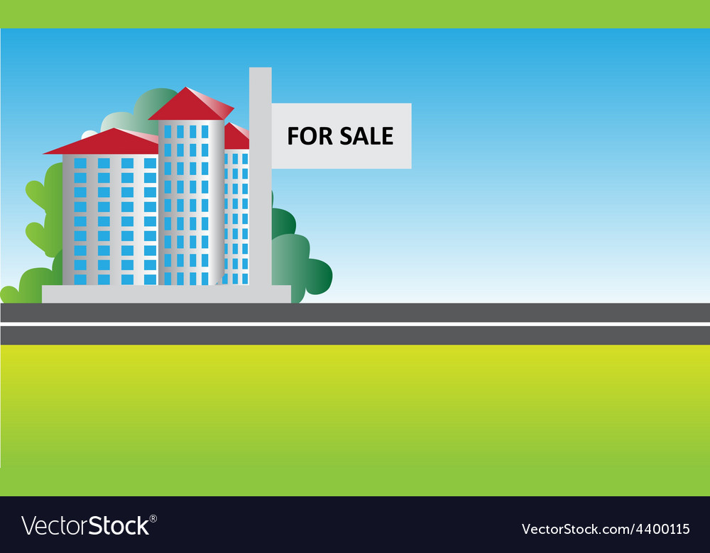 Real estate sale background vector image