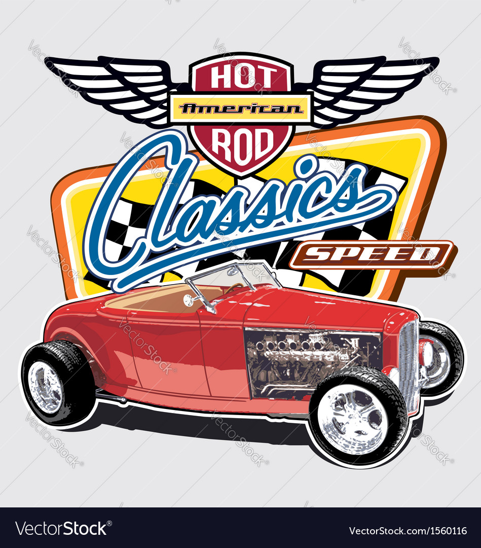 Classic American Speed vector image