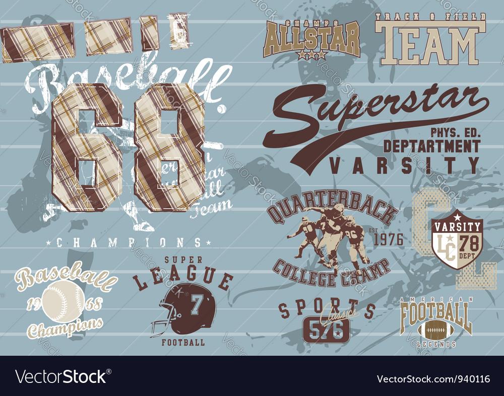 Popular sports vector image