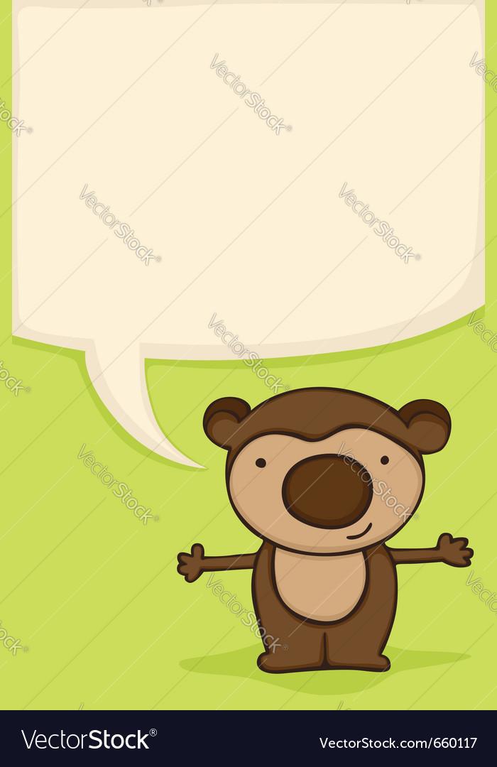 Bear hug card vector image