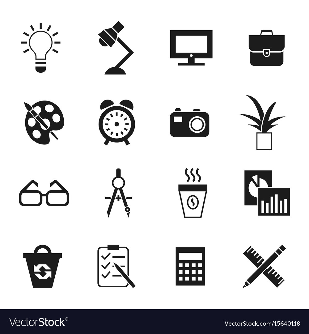 Digital black work space vector image
