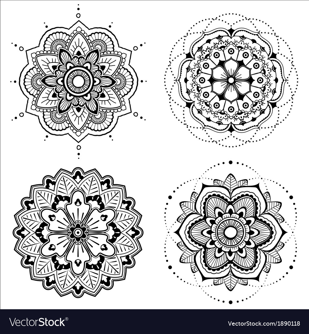 Mandala set vector image