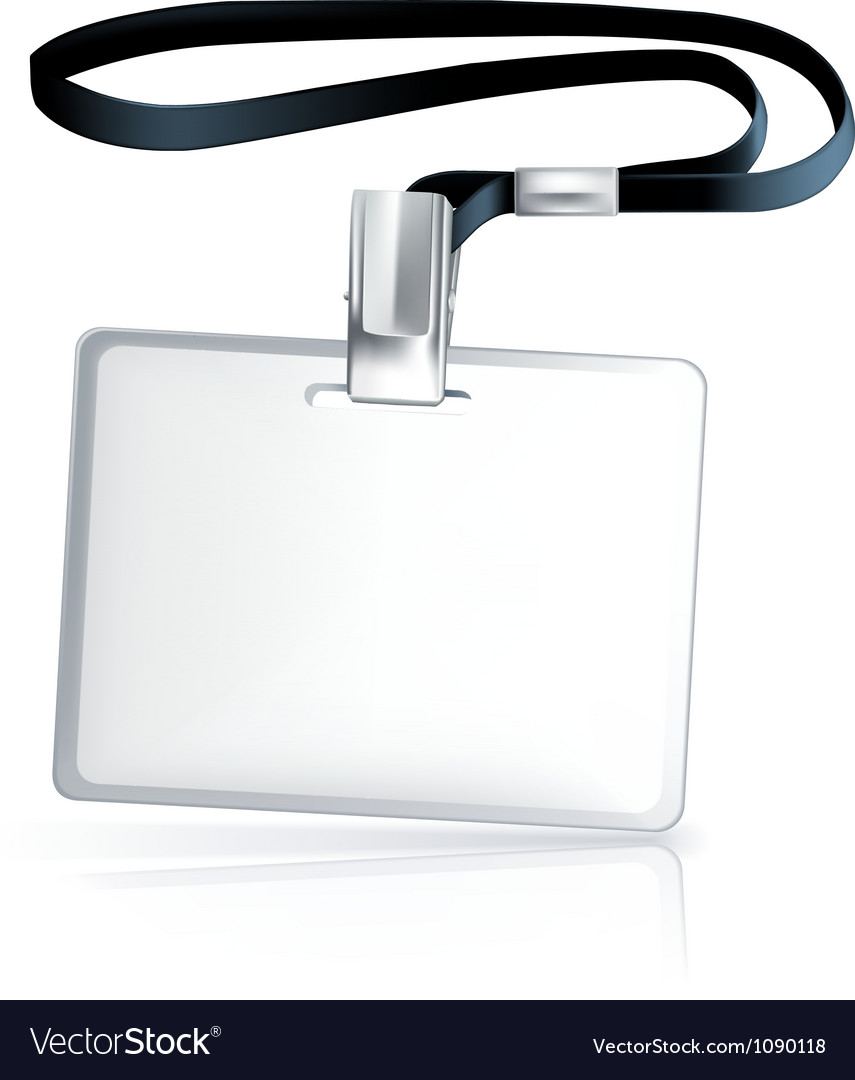 Name Tag vector image