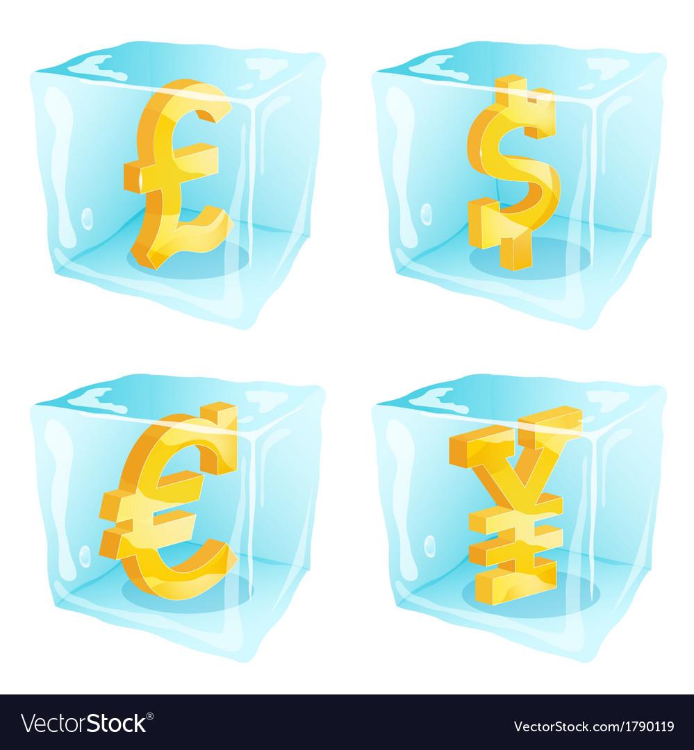 Frozen money vector image