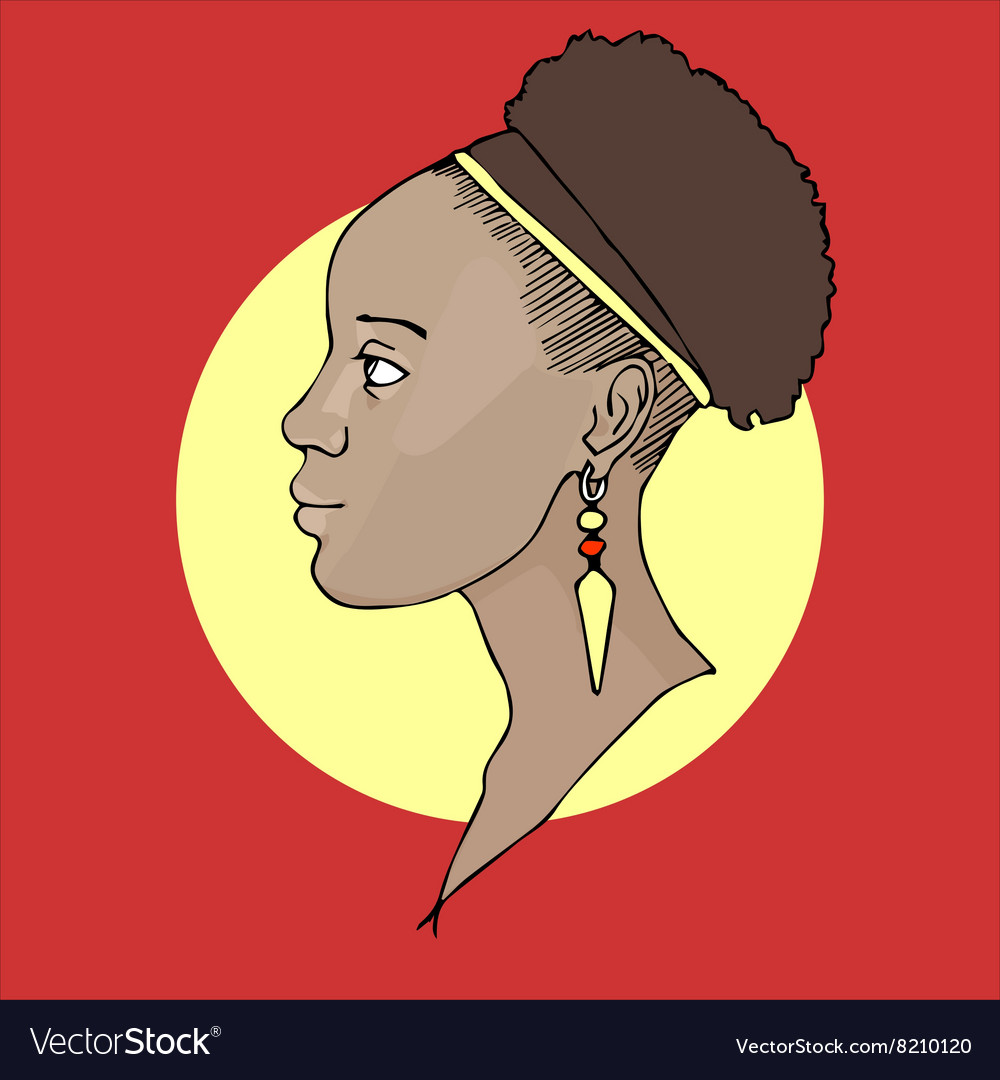 African girl vector image