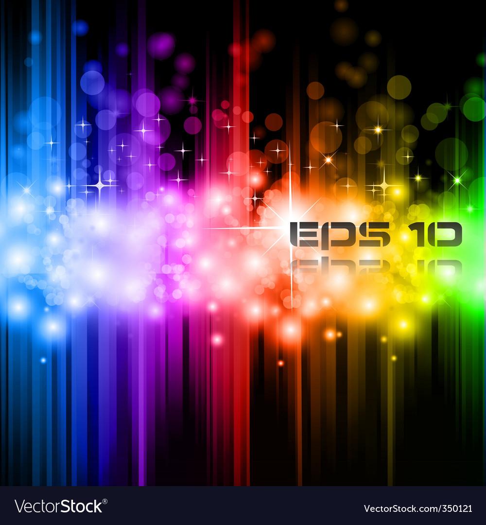 Magic rainbow lights vector image