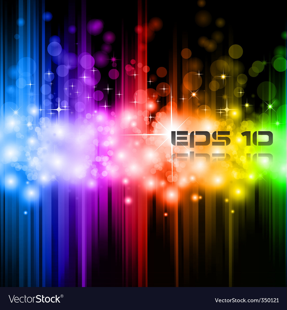 Magic rainbow lights vector image