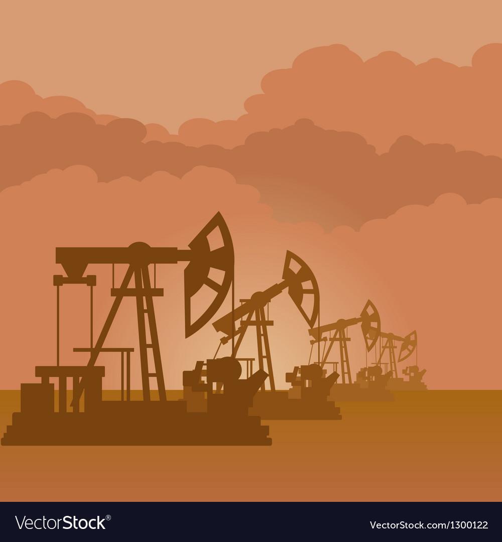 Oil pumps vector image