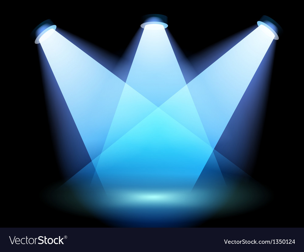 A spotlight at the stage vector image