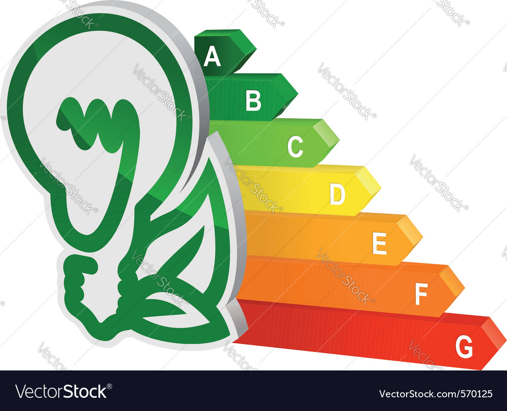 Energy efficiency graph Vector Image
