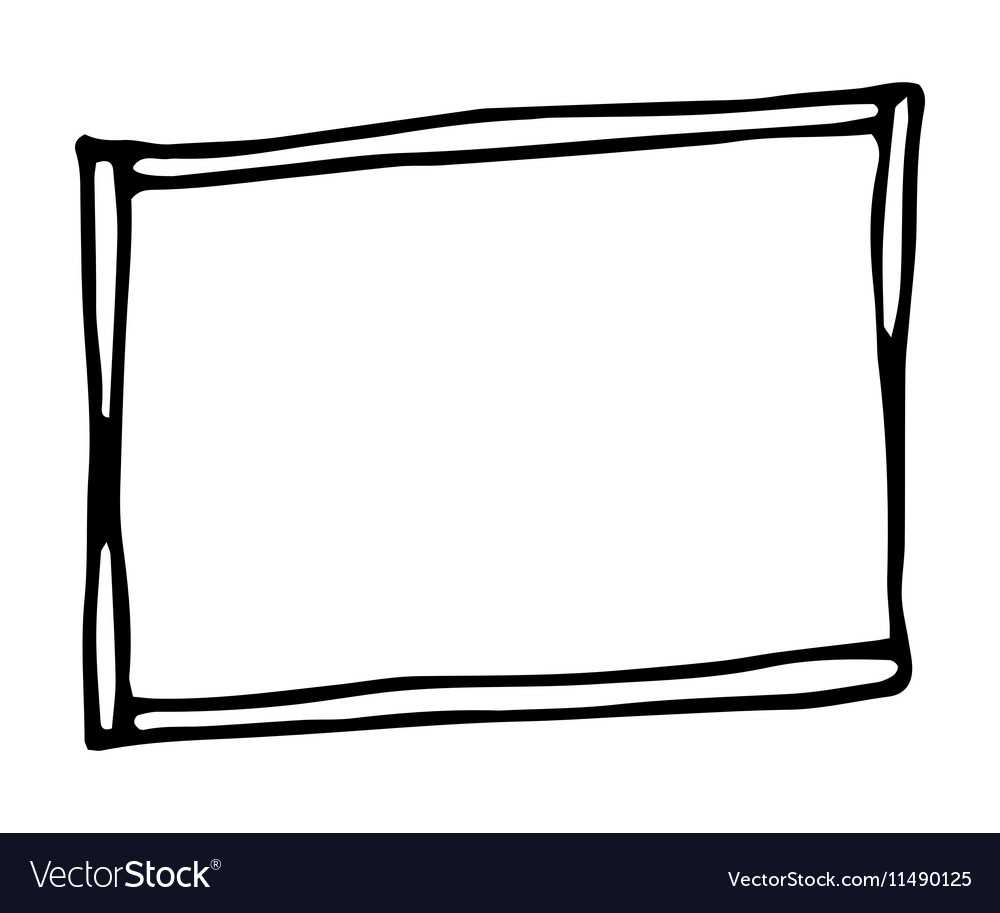 hand drawn rectangle frame royalty free vector image rh vectorstock com vector picture frame border vector picture frame gold