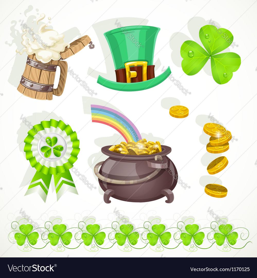 Saint Patricks day elements set for design vector image