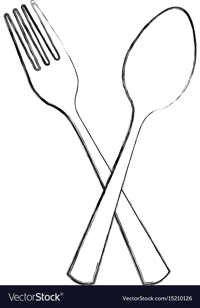 Kitchen fork and spoon isolated icon vector image