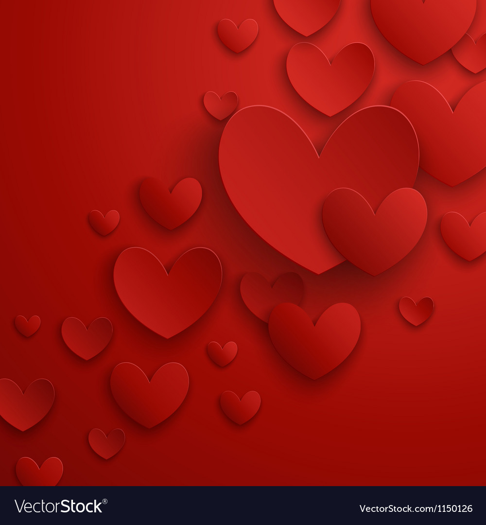 Valentine abstract red vector image