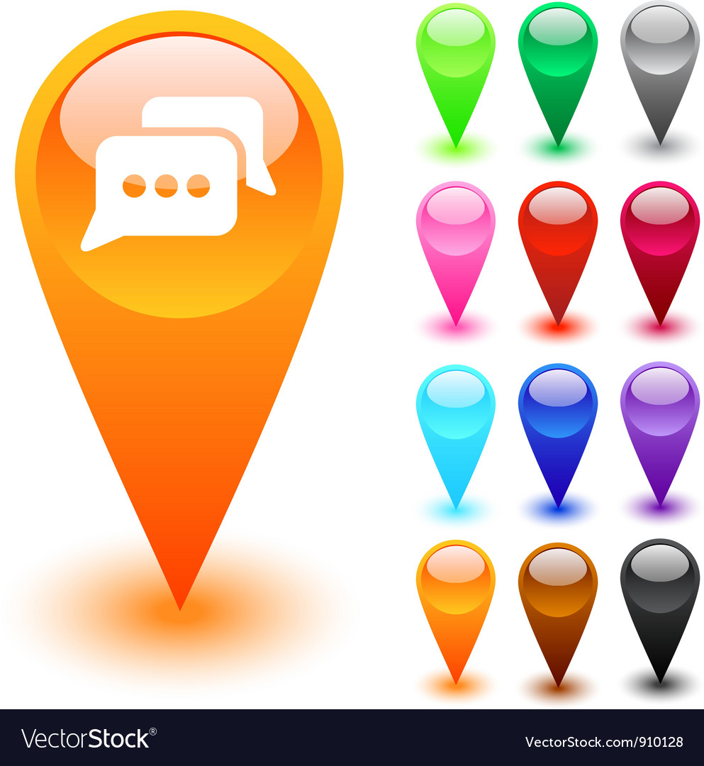 Chat button vector image