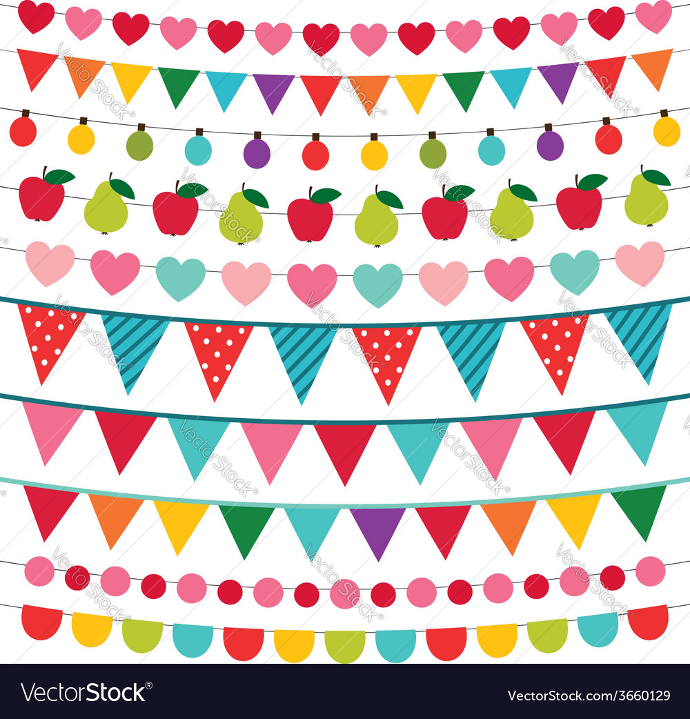 Birthday Party Decoration Royalty Free Vector Image