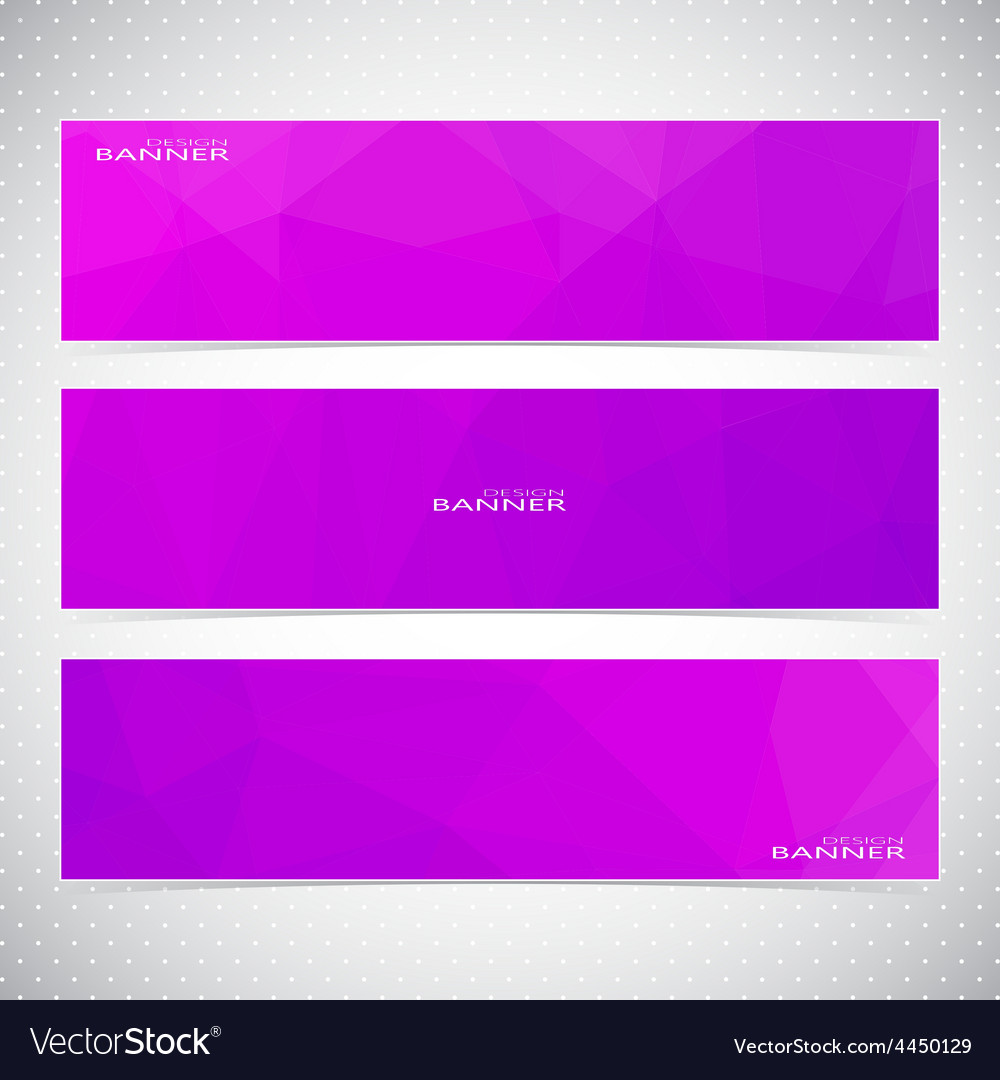 Horizontal Set of Banners with violet Background vector image