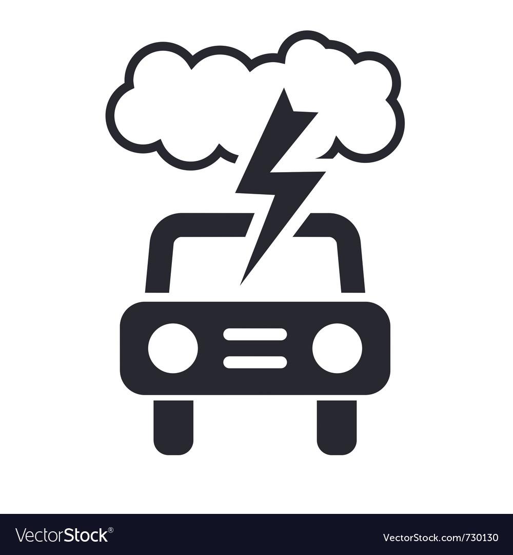 Car storm icon vector image