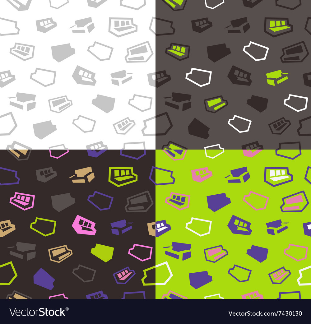 Sofas seamless pattern background vector image