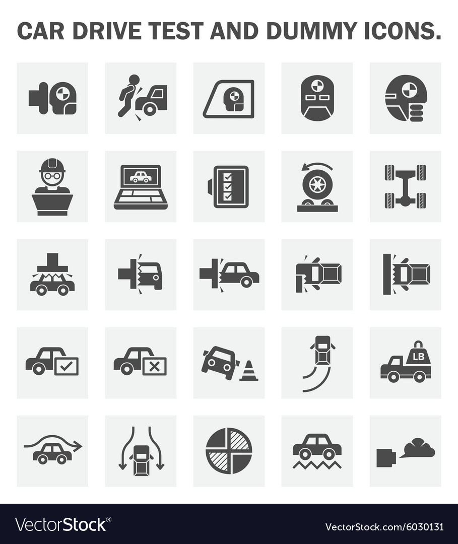 Car test vector image