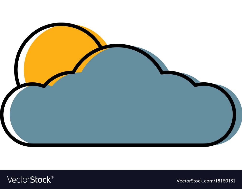 Sun and cloud symbol royalty free vector image sun and cloud symbol vector image biocorpaavc Gallery