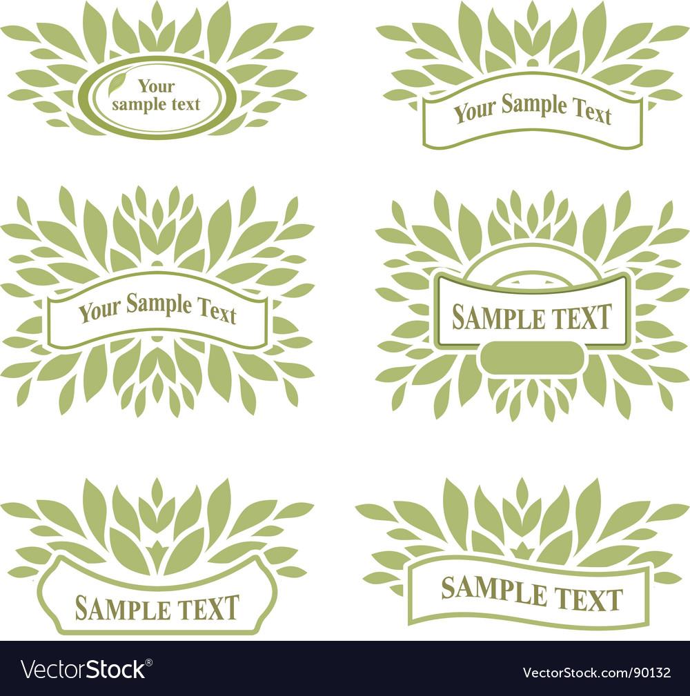 Watercolor Laurels Wreath Set.Eco,bio,nature Labels Stock Vector ...