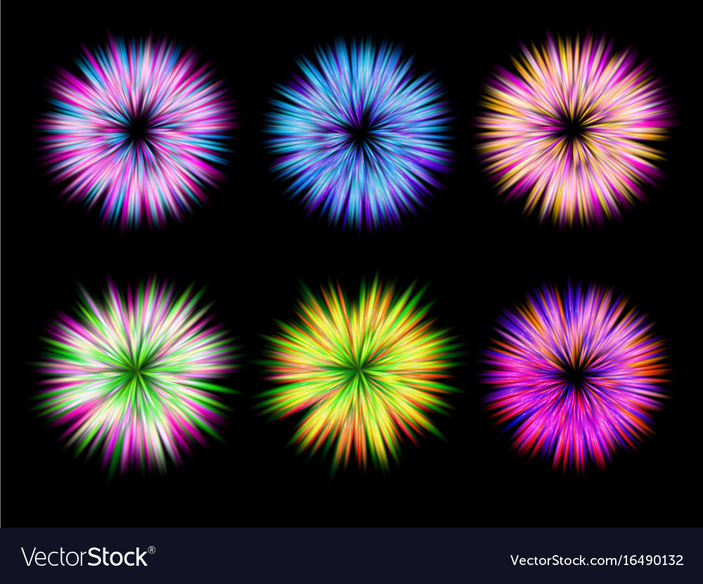 Set of design elements with abstract vector image