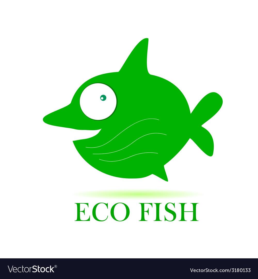 Eco fish vector image