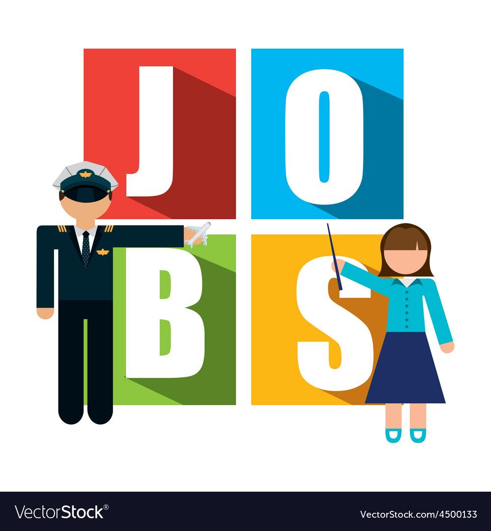 Jobs concept vector image
