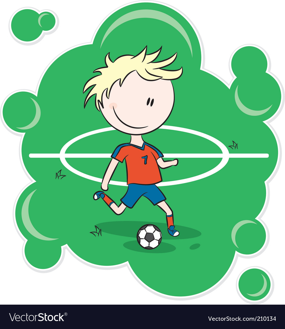 soccer player cartoon. Cartoon Soccer Player Vector