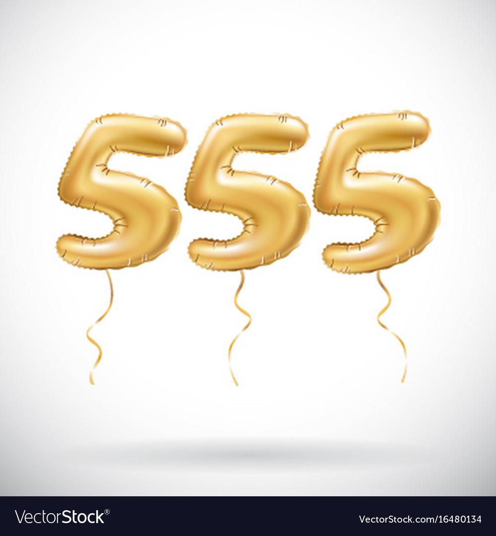 Golden number 555 five hundred fifty five vector image