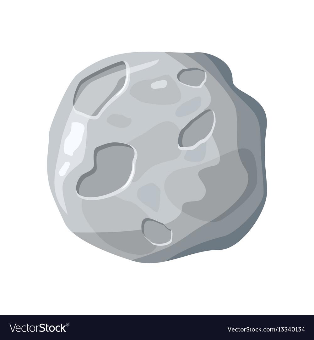 Moon satellite icon vector image