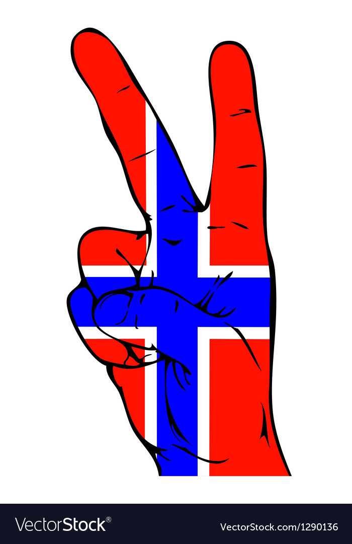Peace Sign of the Norwegian flag vector image