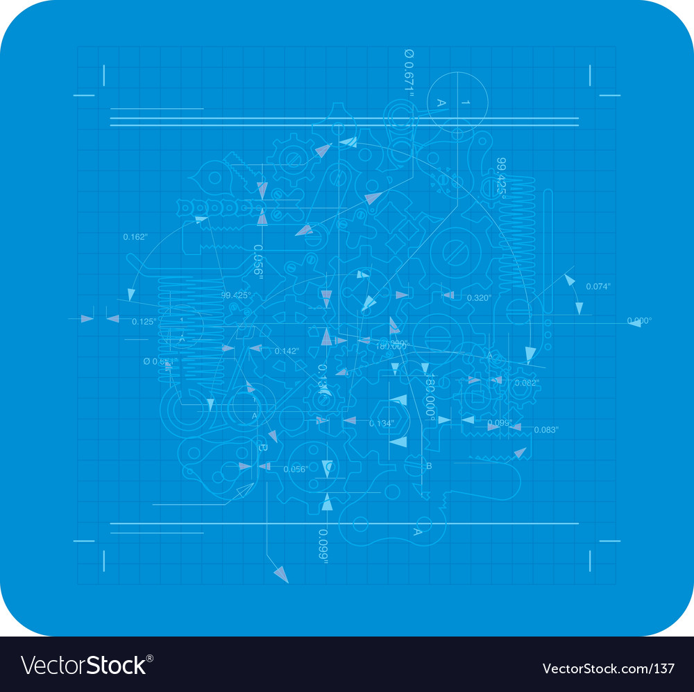 Print style plan vector image