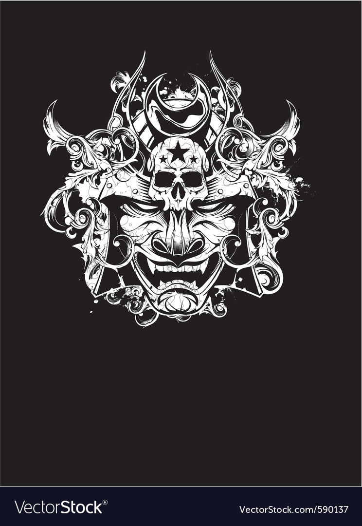 Shogun devil vector image