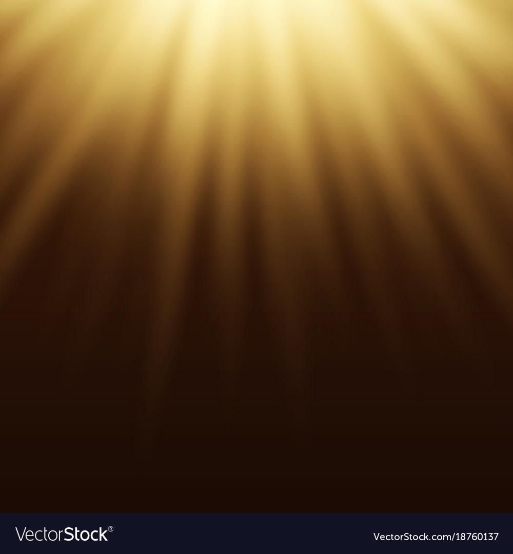 Yellow Light Effect Sun Rays Beams On Brown Vector Image